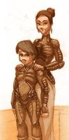 fan art Dune paul and his mom by GiusCB