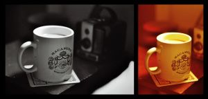 Nightstand of a Photographer by colleenchiquita