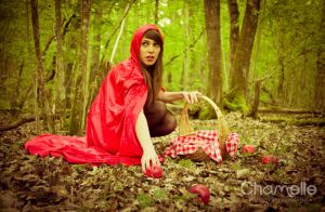 Little Red Riding Hood fairytale cosplay photoshoo by chamellephoto