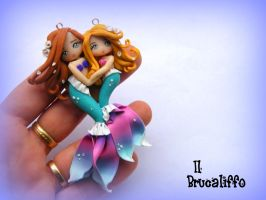 Mermaid Mother and Child by BrucaliffoBijoux