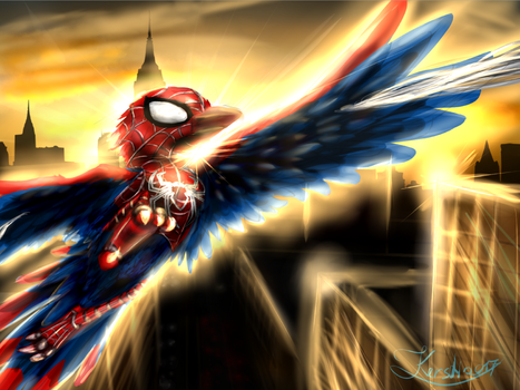 Spider-bird by Dreganus