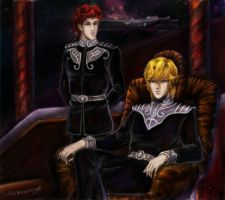 LOGH: Reinhard and Kircheis by adanethiel