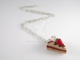 Choco Strawberry Cake Necklace by Meow-Box