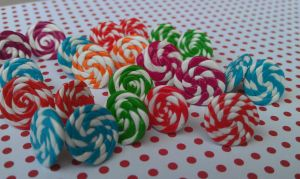 Candy Swirl Post Earring Collection by Gynecology