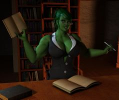 She Hulk Office by willdial
