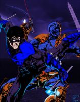 Nightwing Vs. Deathstroke by Icecat13
