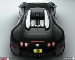 Bugatti Veyron Back - revisit by AfroAfroguy