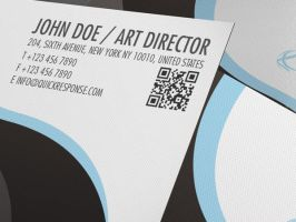 QR Quick Response business card design version 03 by Lemongraphic