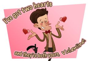 Valentine Card 2011 - 11th Doctor by artemisio