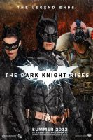 The Dark Knight Rises poster-Batman,Bane,Catwoman by DComp
