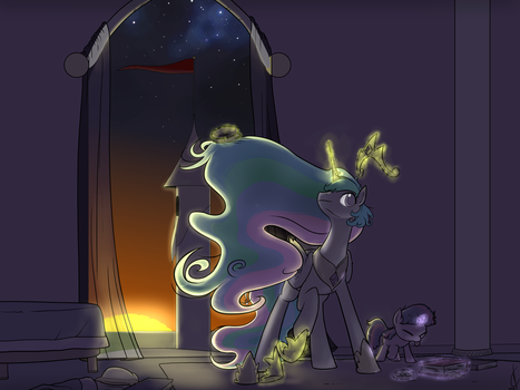 Pupil's first morning. by Dreatos