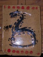Tribal Dragon Platter by J-Rex1463