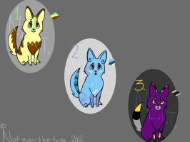 Adoptable Pups 1 (CLOSED) by Not-Even-The-Turtle