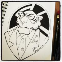 INKtober Day 19 Shere Khan by BigDogsStudio