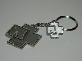 Rammstein key chain and pin by BAZZ1392
