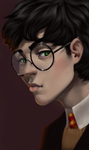 portrait practice (Harry) by BunnyFaceWolf