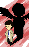 Castiel- my shadow by supernaturalboy