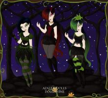 The Woods Girls Performers by BrainyxBat