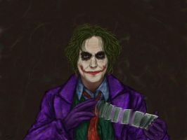 Daniel Day Lewis as The Joker by thesadpencil