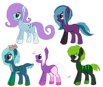 Pony breedables /adoptabels open by HamsterFluf