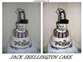Jack Skellington Cake by Squirrel-di-bob69