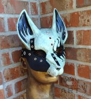 Glow in the dark Heavy Metal Rocker Fox by nondecaf