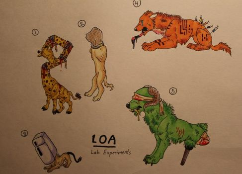 Lab Experiment Adopts--Batch #1 by LOTSOFADOPTS