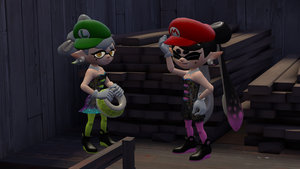 [SFM] Squid Sisters - Marios' Hats by toad14