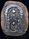 Speak Friend Mines of Moria Gate LOTR by FireVerseCeramics
