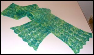 Fern Lace Scarf by radioactive-orchid