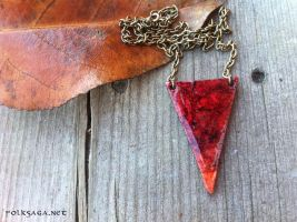 Recycled Triangle Necklace Rust by Folksaga