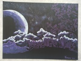 Clair de Lune Violet Canvas by hemmesse