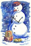 Christmas Snowman by doma22