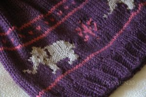 Close-up of Elephant Slouchy Hat by rileysun20
