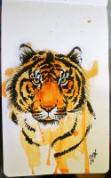 Tiger Water Color by Tyleen
