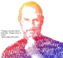 Steve jobs, man of words by Undercovergraphics