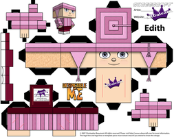 Despicable Me Edith Cubeecraft Paper Craft by SKGaleana