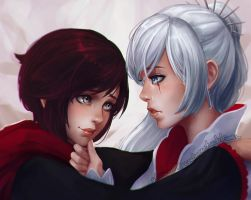 Ruby and Weiss by Sonellion