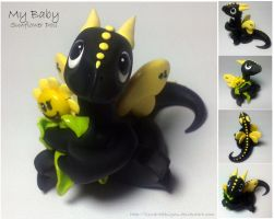 My Baby Sunflower - Baby Dragon by lizzarddesigns