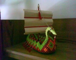3d Origami Dragon Boat by dfoosdc