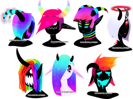 Monster Head Adopts (0/7) CLOSED by The-Purple-Room