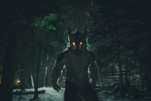 Akersent. Werewolf at night. by SnowVolkolak