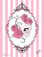 Pink Sugar Skull by ReiGrace