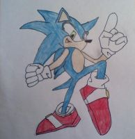my first Sonic sketch by sonicfan40