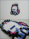 Final Fantasy 6 moogle bead sprite magnet by 8bitcraft
