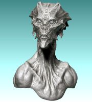 Alien Zbrush Design. by DaveGrasso