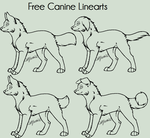 MS PAINT - Canine Linearts by CatLuvsCookies