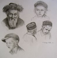 faces sketch by george-roth
