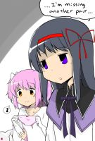 Stalker Pair Homura and Ultimate Madoka by 32channel