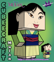 Disney Princess Mulan Cubeecraft 3D by SKGaleana